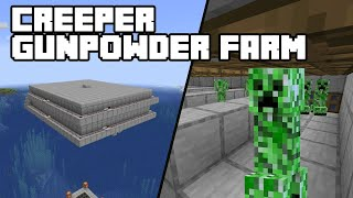 Creeper Gunpowder Farm - Minecraft 1.15/1.16 Tutorial (Java Edition)