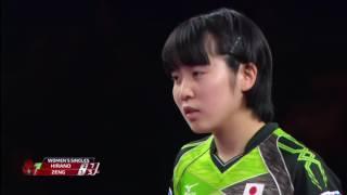 韓国オープン2017女子シングルス準々決勝 平野美宇vsツォン・ジエン (シンガポール)第4ゲーム