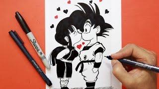 Tarjeta Amor San valentin Dragon Ball│  love card  San valentin