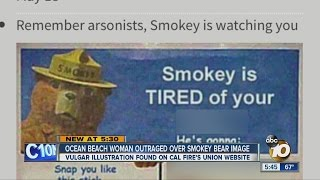 Ocean Beach woman outraged over Smokey Bear image