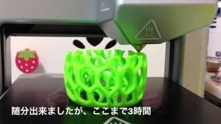 Cube 3D Printer をはじめてつかってみました