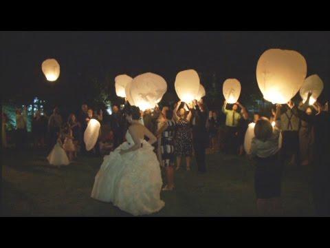 Vanessa & Ken's Wish Lanterns | Flying Lantern Wedding Ceremony | The Estates of Sunnybrook Toronto