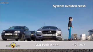 EURO NCAP實測AEB自動緊急煞車系統,VOLVO S90狂勝M.BENZ E-Class、BMW 5系列!?