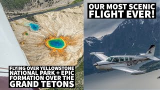 Flying Over Yellowstone + Epic Formation Over the Grand Tetons