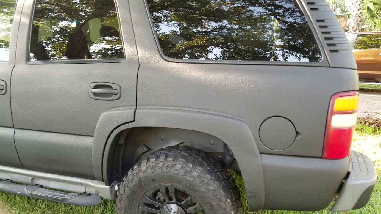 Spray In Bedliner >> Raptor liner paint job 2003 Tahoe - YouTube