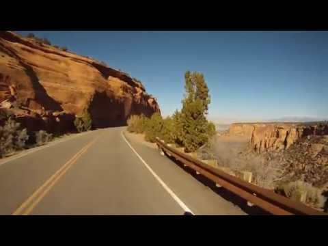 Biking Colorado National Monument indoor training video