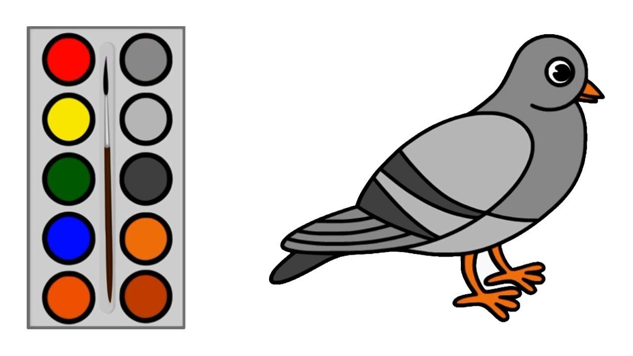 Cara Menggambar Burung Dara