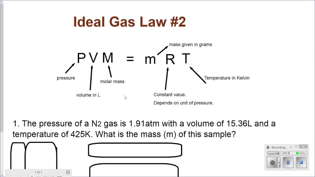 pvm mrt ideal gas law 2 [ 1280 x 720 Pixel ]