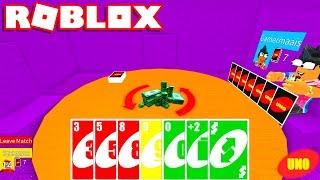 2 PLAYER in the CHALLENGE NO UNO VALENDO 1000 ROBUX → Roblox Uno ft. gamermore 🎮