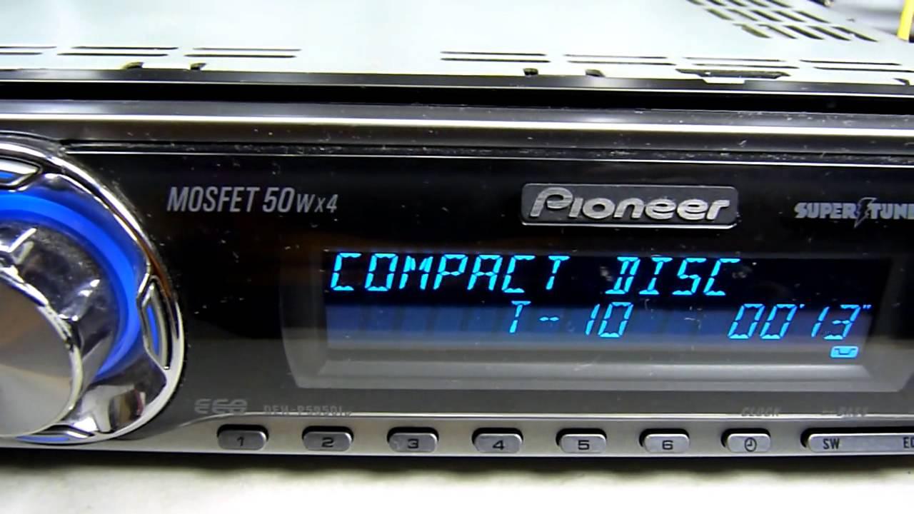 Pioneer deh p4850 инструкция