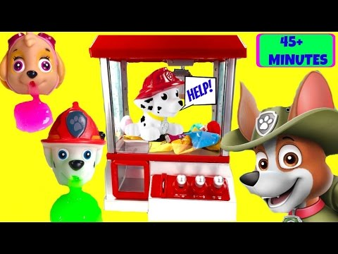 Huge PAW PATROL Compilation! Over 45 Minutes of Stop Motion, Claw Machine, Slime & Toys!