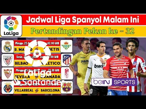 JADWAL LIGA SPANYOL 2021 PEKAN 32 – REAL MADRID VS BETIS – VILLARREAL VS BARCELONA