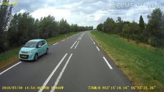 Dashcam: Motorrijder speelt met zijn leven bij inhaalactie op de N362