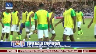 Super Eagles Fly Out For England Friendly After Meeting Buhari Pt.4 |News@10| 30/05/18