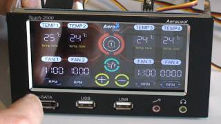 Скачать AeroCool Touch 2000 Fan Speed And Temperature Controller Review Russian