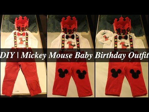 7cb84afc DIY | Mickey Mouse Baby Birthday Outfit - YouTube