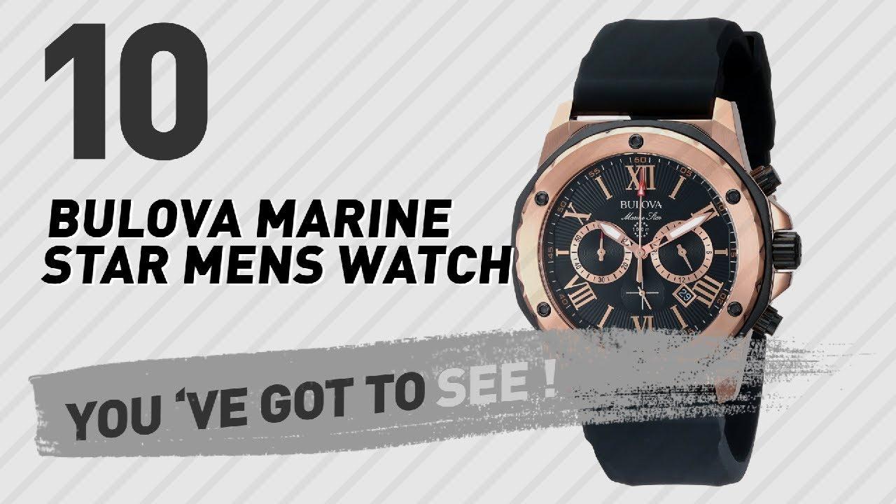 19b7d3f117b Top 10 Bulova Marine Star Mens Watch    New   Popular 2017