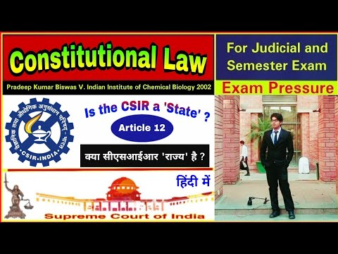 Pradeep Kumar Biswas V. Indian Institute Of Chemical Biology, 2002   Constitutional Law