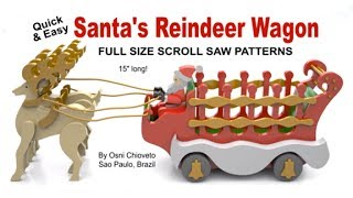 Wood Toy Plans - Santa's Reindeer Wagon