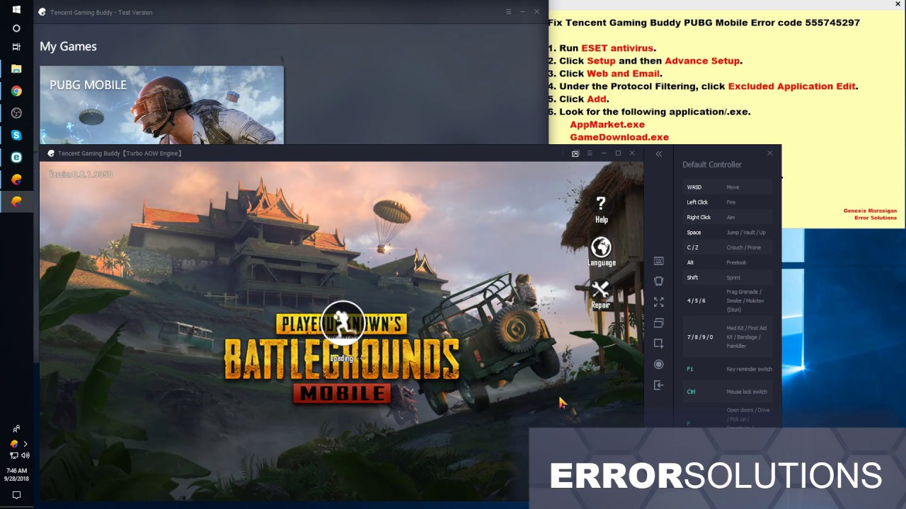 Fix Tencent Gaming Buddy Emulator Pubg Mobile Error Code