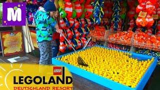 Германия #1 Леголенд парк аттракционов Макс выиграл игрушки в воде Legoland Germany win toys