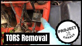 How to remove a TORS on an ATV   Yamaha Blaster 200