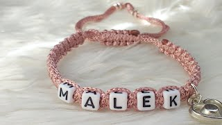 DIY shamballa bracelets . How to make name bracelets (english version) friendship bracelet
