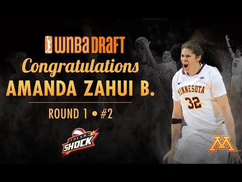Amanda Zhui B. Drafted #2 Overall by Tulsa Shock in 2015 WNBA Draft