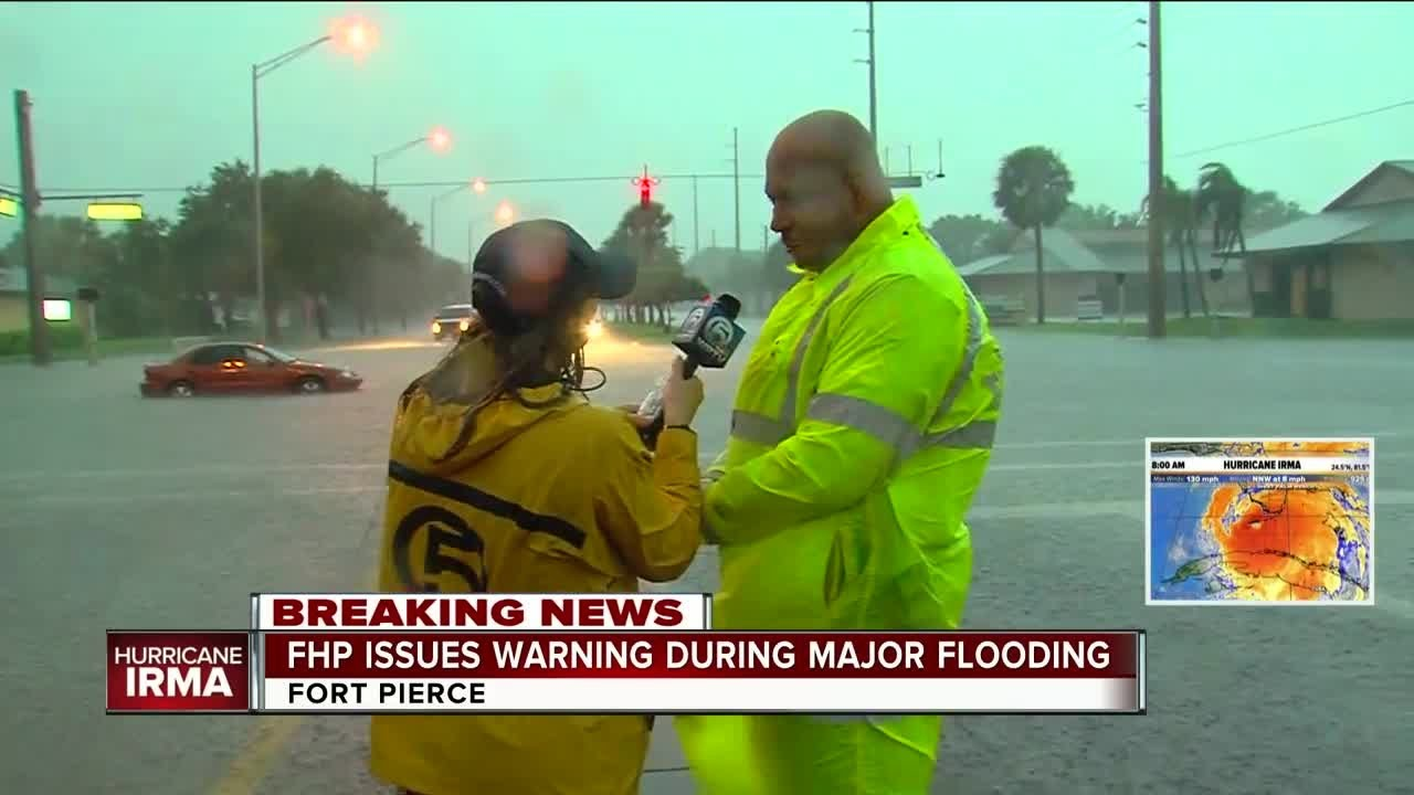 FHP asks drivers stay home, gives update on St  Lucie County flooding
