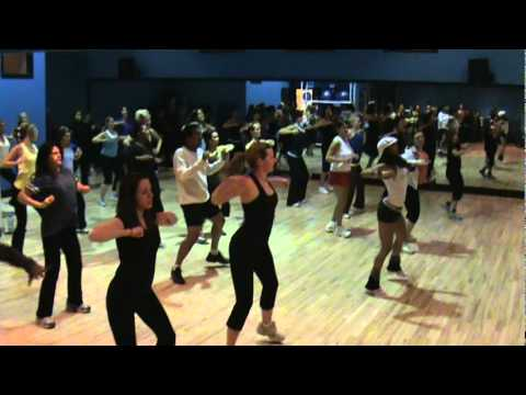 ZUMBA Fitness Class at Golds Gym Northland Location, Calgary, AB, Canada with Maria-Josee Romero