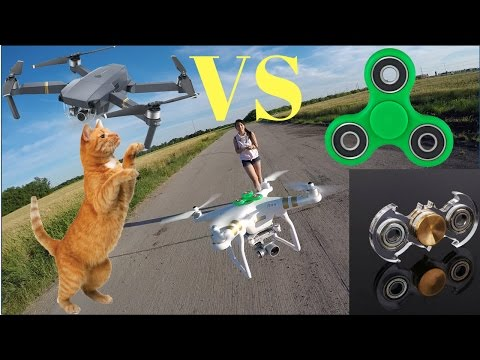 Fidget Spinner 👽 VS Drones 🚁VS Cat 🐱