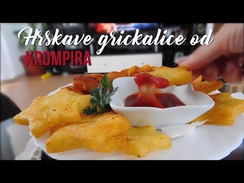 Hrskave grickalice od krompira - Crispy potato snacks