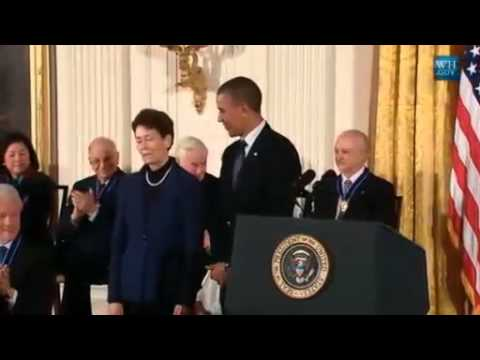 Sally Ride's Partner Accepts Her Medal Of Freedom Award