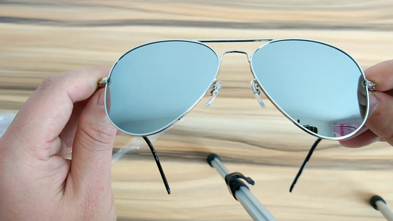 8c2dc911b7 Mirrored Lens Pilot Polarized Sunglasses Silver Metal - YouTube