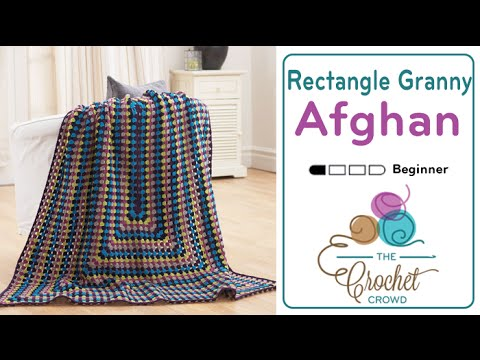 How To Crochet An Afghan Rectangle Granny Afghan Youtube