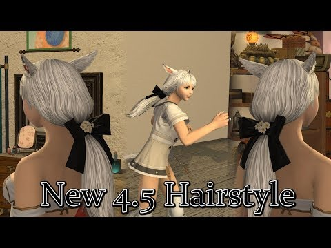 Ffxiv Patch 4 5 New Hairstyle Youtube