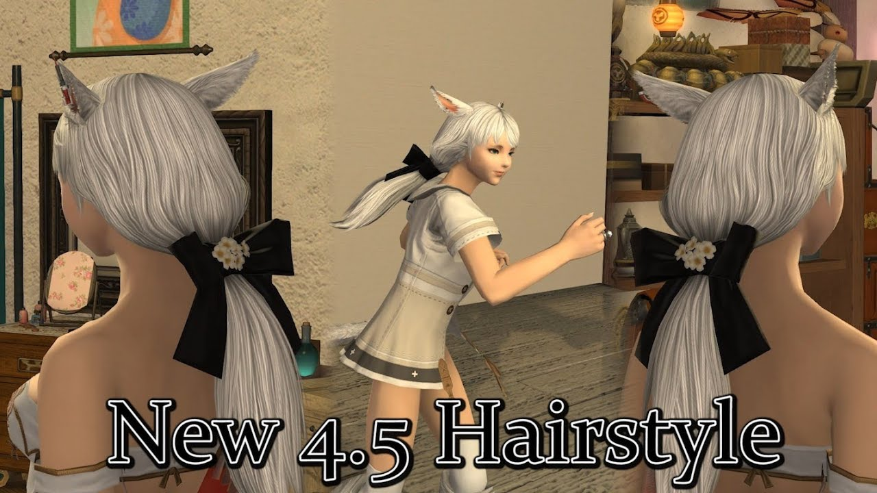 Online Hair Style: FFXIV: Patch 4.5 New Hairstyle