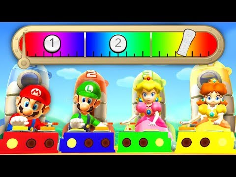 Mario Party 9 - Mario vs Luigi vs Peach vs Daisy - Minigames