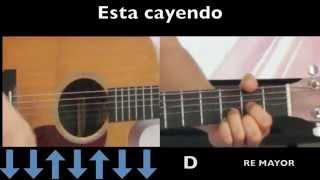 Algo Esta Cayendo Aqui - Tutorial de Guitarra - Omarosvideo