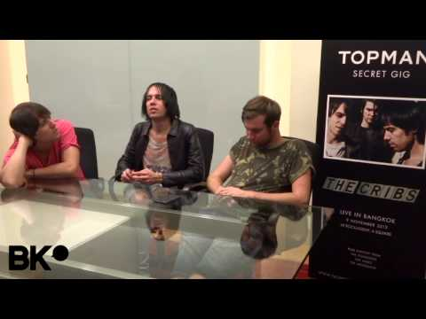 The Cribs: Interview in Bangkok by BK Magazine - YouTube