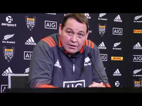 Steve Hansen ALL BLACKS 3rd Test vs Lions Team Selection