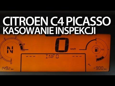 Citroen C4 Picasso Kasowanie Inspekcji Serwisowej