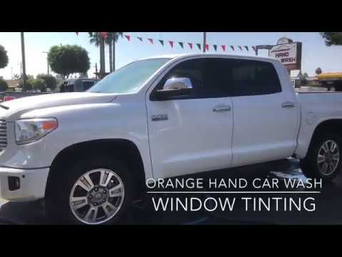 Toyota Tundra - Window Tint - Orange Hand Car Wash Tint