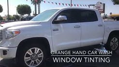 Toyota Tundra - Window Tint - Orange Hand Car Wash Tint