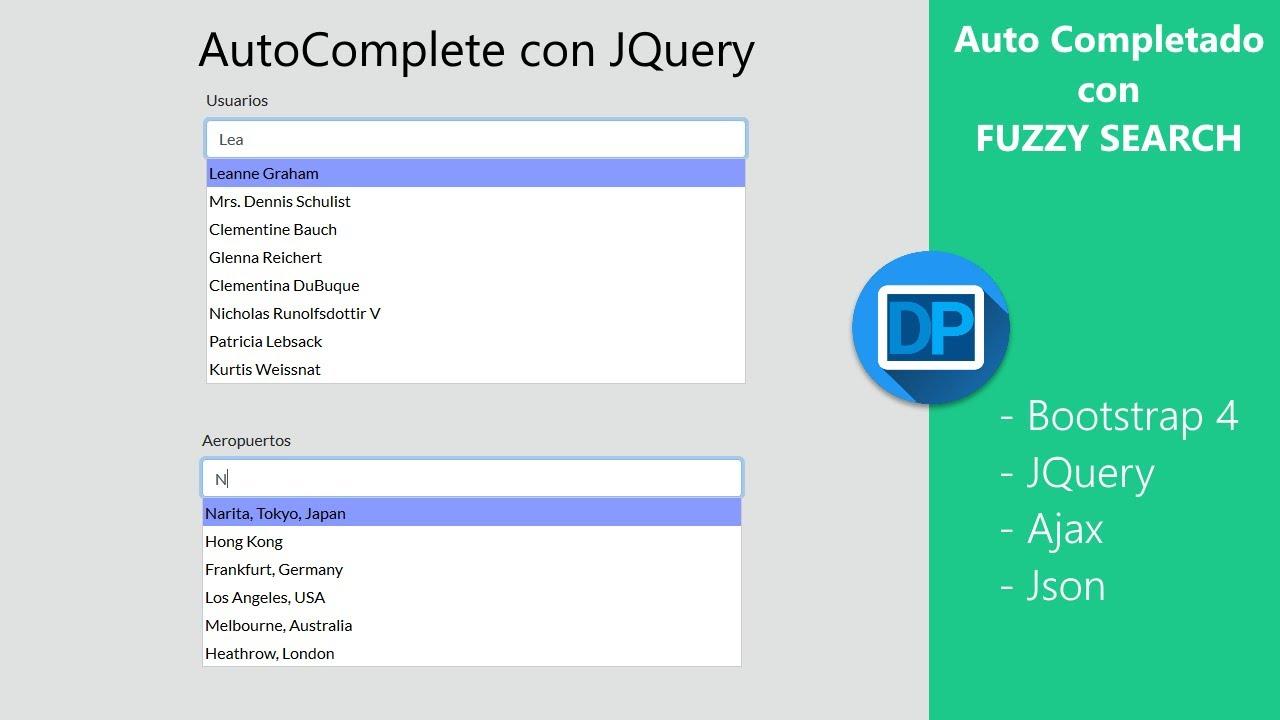 AutoCompletado con Jquery - Fuzzy search