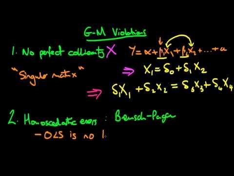 Gauss-Markov violations: summary of issues