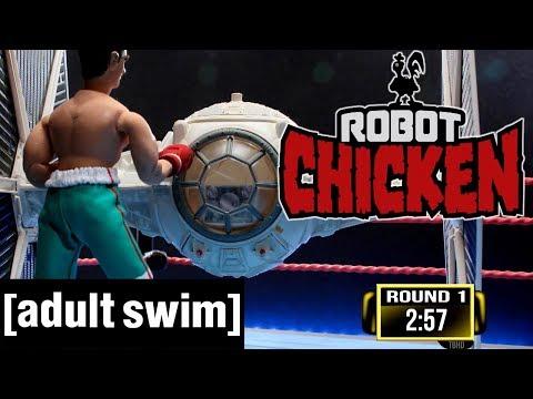 Thai Fighter vs. TIE Fighter   Robot Chicken   Adult Swim De