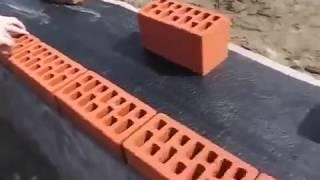 Укладка облицовочного кирпича, видеоурок от мастера