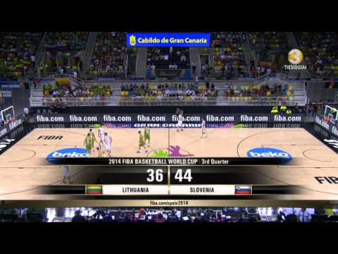 2014 FIBA Basketball World Cup: Lithuania - Slovenia (Lietuva-Slovenija) 2014.09.04