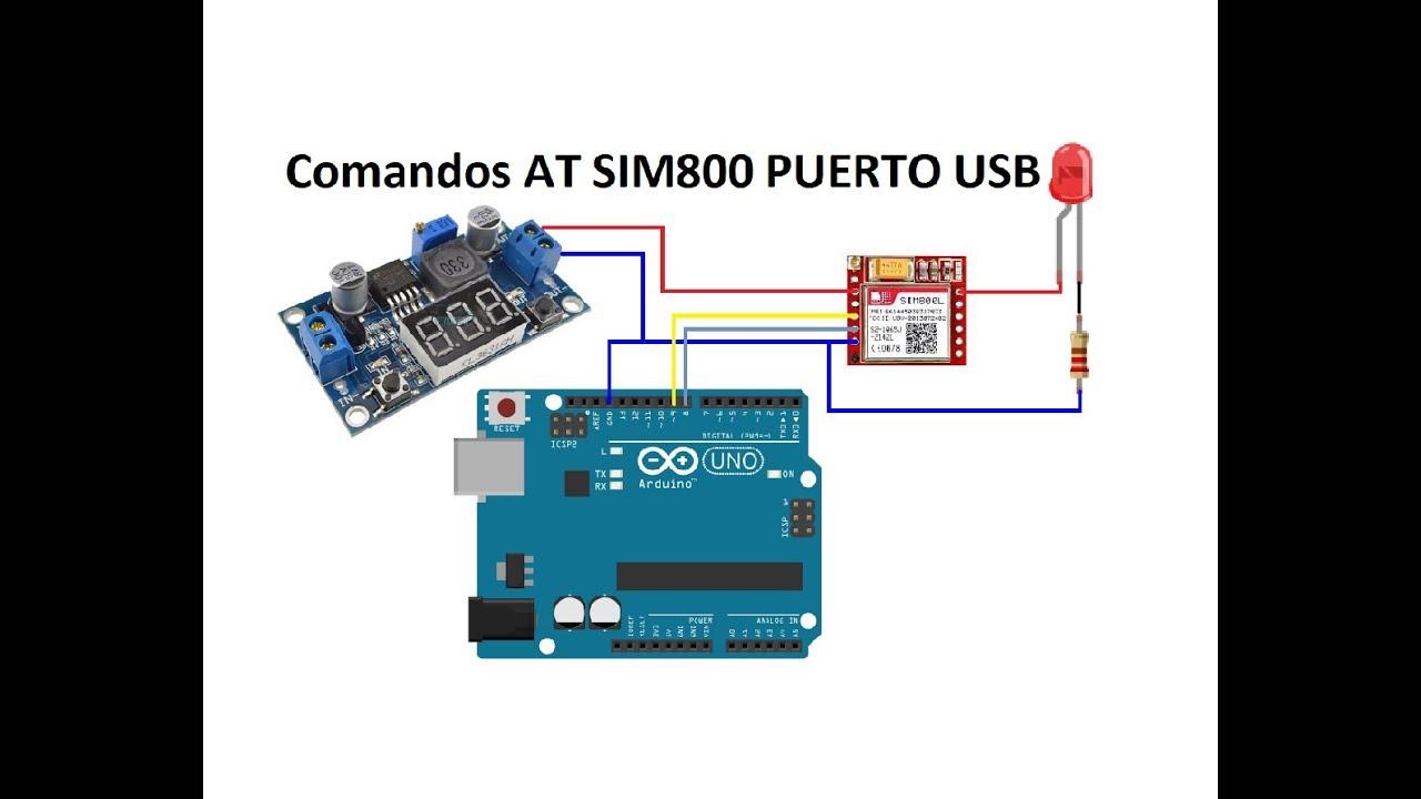 Comandos AT SIM800 PUERTO USB PARTE 1